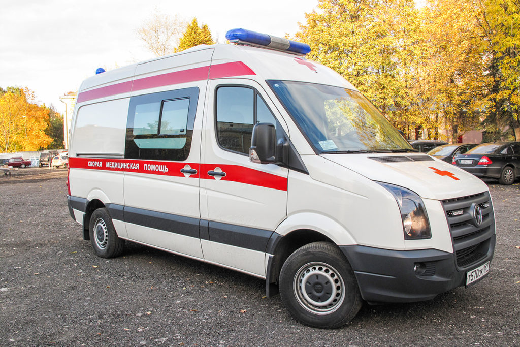 Moscow ambulance vehicle