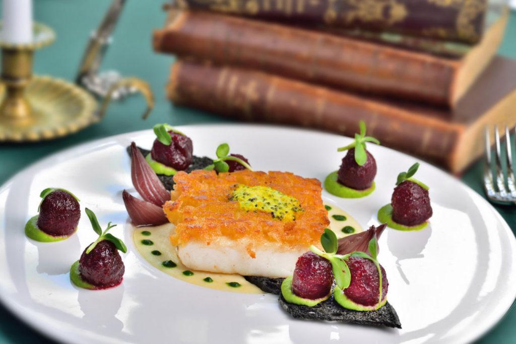 A fish dish at Café Pouchkine