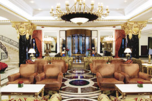 The Ritz-Carlton Moscow hotel lobby