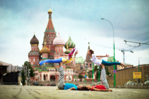 Training near the Red Square